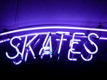 Fluorescent Light: Skates Royalty Free Stock Images