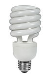 Fluorescent lightbulb Stock Photo