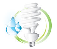 Fluorescent lightbulb Stock Photography