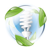Fluorescent lightbulb, recycle Stock Photo