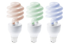 Fluorescent ligtht Bulbs Stock Image