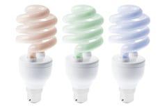 Fluorescent ligtht Bulbs. Flourescent Light bulbs on White Background stock image