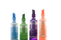 Fluorescent marker close up Royalty Free Stock Photos
