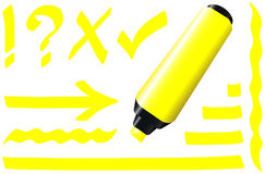 Fluorescent Marker Yellow Royalty Free Stock Photo