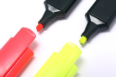 Fluorescent markers Royalty Free Stock Image