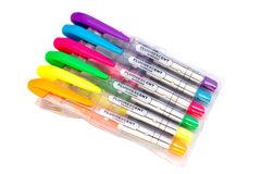 Fluorescent markers Royalty Free Stock Images