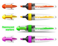 Fluorescent markers Stock Image