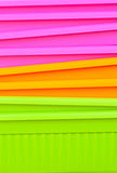 Fluorescent multicolored jardiniere Stock Photography