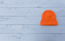Fluorescent orange knit Stock Photo