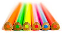Fluorescent Pencils Royalty Free Stock Photos