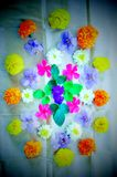 fluorescent scent flowers stock image
