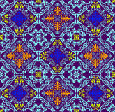 Fluorescent seamless tapestry Royalty Free Stock Photography