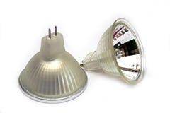 Fluorescent small spot light bulbs Stock Photography