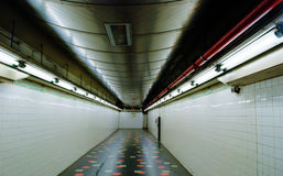 Fluorescent Subway Hallway Stock Images