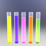 Fluorescent test tubes Royalty Free Stock Photography