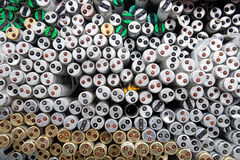 Fluorescent tubes Resource recycling Royalty Free Stock Images