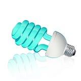 Fluorescente lichtblauw Stock Foto's