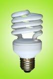 Fluorescente spiraalvormige lamp royalty-vrije stock foto's