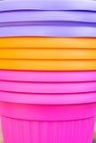 Fluorescerande mångfärgad jardiniere Royaltyfri Bild