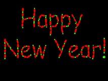 fluorescerande nytt år Arkivbilder