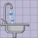 Fluoride water poison Stock Photo