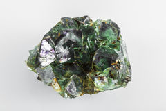 Fluorit-Mineral-Felsen Stockfoto