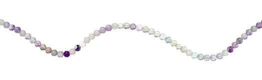Fluorite beads isolated Royalty Free Stock Photography