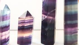 Fluorite crystal stones