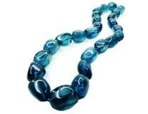 Fluorite gemstone beads necklace jewelery Royalty Free Stock Photo