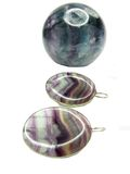 Fluorite geological crystal and jewelery earrings Stock Photos
