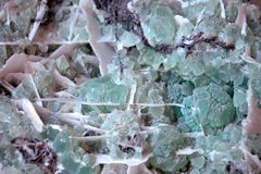 Fluorite mineral background Stock Photo