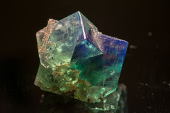 Fluorite mineral. Mineral on black background Royalty Free Stock Photos