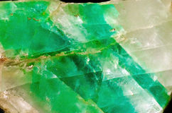 Fluorite. Natural fluorite in the Vernadsky Sate Geological Museum in Moscow Royalty Free Stock Photos