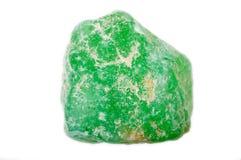 Fluorite non tagliata verde Fotografia Stock