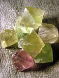 Fluorite Points Royalty Free Stock Images