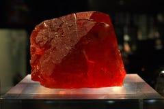 Fluorite rossa Fotografia Stock
