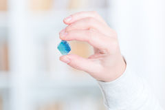 Fluorite semi preciouse gemstone Stock Photo