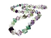 Fluorite semigem crystals beads Stock Photos