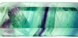 Fluorite semiprecious mineral geological crystal Royalty Free Stock Images