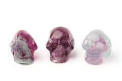 Fluorite skulls Royalty Free Stock Photo