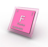Fluoru chemicznego elementu znak Zdjęcie Royalty Free
