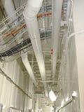 Flur mit Rohren Stockbilder