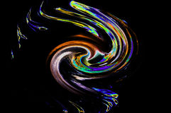 fluro颜色摘要漩涡,形状,运动 免版税库存照片