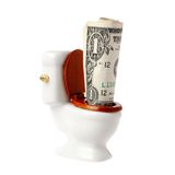 Flush a dollar Royalty Free Stock Photo