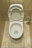 Flush toilet. Home flush toilet top view Stock Photography