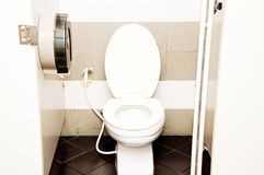 Flush toilet Royalty Free Stock Photography