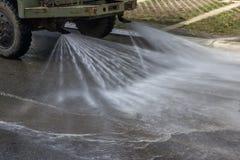 Flusher da rua na ação Fotografia de Stock Royalty Free