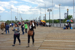 Flushing Meadows�Corona Park Boardwalk Royalty Free Stock Photography