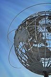 Flushing Meadows Corona Park Unisphere. The Unisphere is a 12-story high, spherical stainless steel representation of the Earth. Located in Flushing Meadows – Stock Image