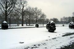 flushing meadows zimę zdjęcie stock